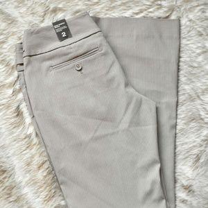 The Limited Exact Stretch Khaki Slacks Size 2 NWT